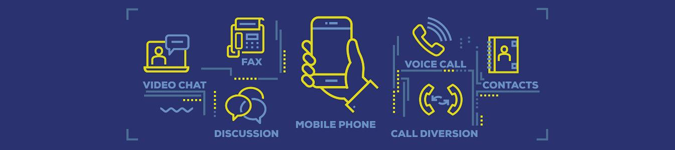 Modern Flat Line Design Concept of Communication